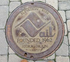 Snapped this picture in Lionshead at Vail, elevation 8150. nice storm drain. :D Dy.
