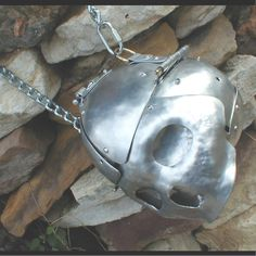Basic Metal Skull Purse with chain strap by brooksbot75 on Etsy, $160.00