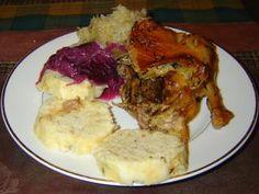Jak upéct kachnu – kachna pečená na kmínu | recept French Toast, Menu, Chicken, Breakfast, Food, Pastries, Menu Board Design, Morning Coffee, Essen