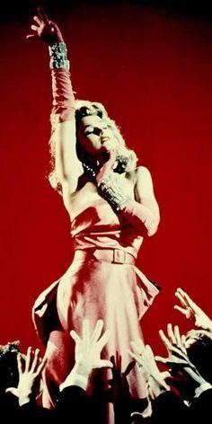 The Original Material Girl: Madonna Channels Marilyn Monroe En Gentlemen Prefer Blondes, 1985 Madonna Birthday, Fashion Advice, Fashion News, Chartreuse Dress, Pink Dress, God Save The Queen, Madonna Fashion, High Street Trends, Gentlemen Prefer Blondes