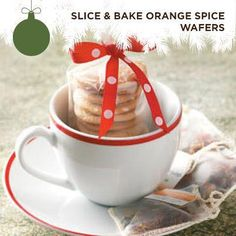 Taste of Home's Cookie Countdown: Slice & Bake Orange Spice Wafers! These thin and crispy cookies stack well, making them a great gift to give.