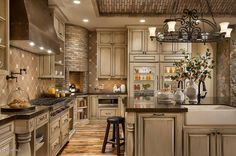 Add some more colors, but really like this kitchen. Having glass fridge doors would definitely be incentive to keep it pretty inside.