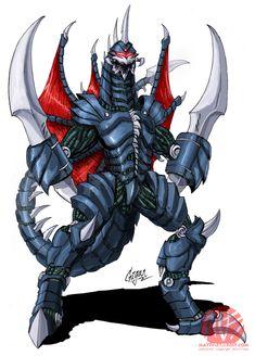 Godzilla King of all Monsters: Mecha Gigan Godzilla Wallpaper, Wallpaper Art, Weird Creatures, Mythical Creatures, Neo Monsters, Strange Beasts, King Kong, The Villain, Digital Illustration