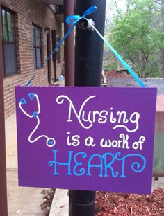 Nursing is a work of heart canvas by heartofacanvas on Etsy, $15.00