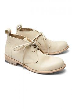 Monotone Cream Boots