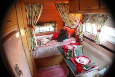 Vintage Airstream Trailers Interior | Cute vintage airstream interior | Camping/airstreams | Pinterest