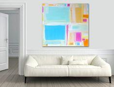 'MADRAS' original abstract painting by Linnea Heide ©www.linneaheide