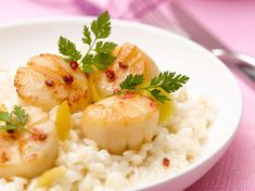 Risotto aux Saint-Jacques - Recettes - The Best Sea Recipes Surimi Recipes, Endive Recipes, Healthy Salad Recipes, Veggie Recipes, Healthy Food, Tostadas, Cooking Chef, Cooking Recipes, Cooking Ideas
