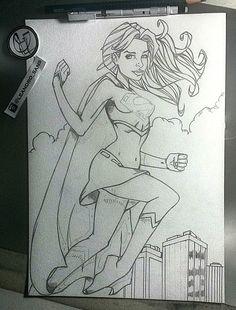 Super Girl em andamento. WIP2. Art by Leandro Sans.