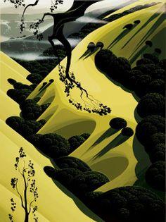 Eyvind Earle (1916-2000)  American Artist and Illustartor