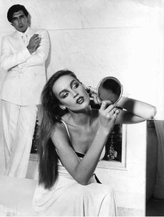 Bryan Ferry and jerry Hall. Who would have thought that she would leave him for Mick Jagger? Bryan Ferry is so much more handsome! Jerry Hall, Laura Palmer, Mick Jagger, Ferry, Roxy Music, Lauren Hutton, Jean Shrimpton, Some Girls, Twiggy