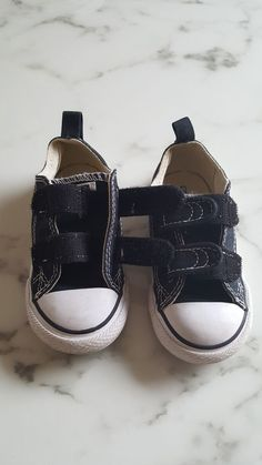 5be4f5941925a6 Converse All-Star Chuck Taylor Toddler Shoes Black w velcro closure size 7