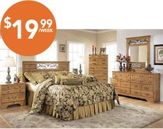 Majik Rent-to-Own Ashley Quinden Bedroom Set Id:B246   Bedroom ...