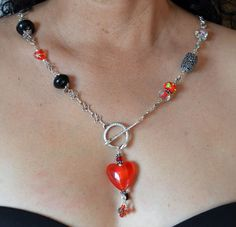 Temptation 24 inch necklace with snake clasp  by ShizaruDesigns, $26.00