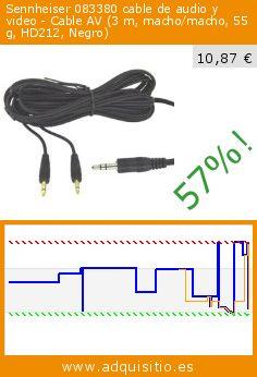 Sennheiser 083380 cable de audio y video - Cable AV (3 m, macho/macho, 55 g, HD212, Negro) (Accesorio). Baja 57%! Precio actual 10,87 €, el precio anterior fue de 25,40 €. http://www.adquisitio.es/fabricado-marca/sennheiser-083380-55-g