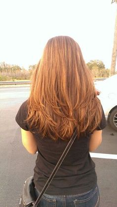 Long layered hair...this is exactly how i got my hair done yesterday!! For a second i thought it was me!!:)