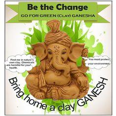 This #Ganesha Chaturthi let's go #ecofriendly with #clay #Idols!   #ganpati #festival #lordganesh #ganeshchaturthi