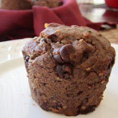 Healthy Gluten-Free Power Muffins Recipe - These are very hearty muffins, just the way we like them. If you prefer healthy muffins that are a touch lighter, and you aren't vegan or allergic to eggs, you can blend in 1 large egg with the wet ingredients. But truthfully, we prefer the egg-free version.