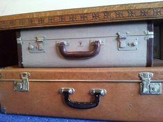 Vintage suitcases...love them!! From Eyecandy vintage.
