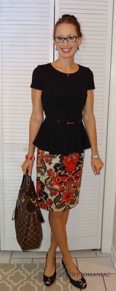 Peplum Top + Floral Skirt