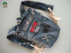 旧牛仔裤改包包、儿童书包DIY教程╭★肉丁网
