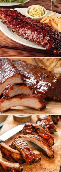 Como preparar Costillas de cerdo al horno en salsa BBQ estilo tony romas Fırın yemekleri Rib Recipes, Mexican Food Recipes, Kitchen Recipes, Cooking Recipes, Tasty, Yummy Food, Bbq Ribs, Barbecue Recipes, Love Food