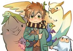 Incredible beasts and the place to seek out them Arte Do Harry Potter, Harry Potter Drawings, Harry Potter Anime, Harry Potter Fandom, Harry Potter World, Incredible Beasts, Fantastic Beasts Fanart, Fantastic Beasts And Where, Film Manga