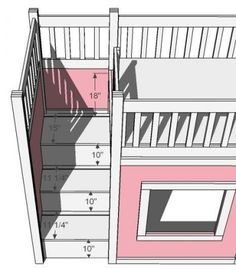 Ana White | Build a Storage Stairs for the Playhouse Loft Bed | Free and Easy DIY Project and Furniture Plans