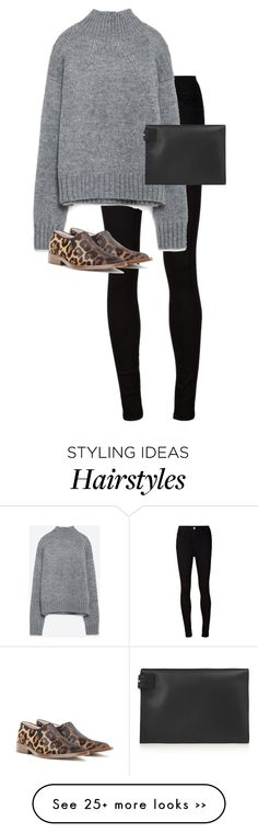 """""""Untitled #9633"""" by alexsrogers on Polyvore featuring AG Adriano Goldschmied, Zara and Victoria Beckham"""