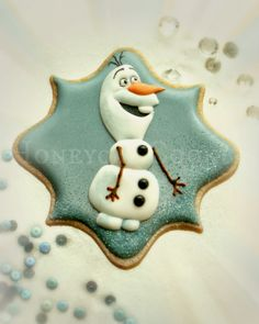Olaf from Frozen Character Decorated Cookie