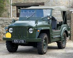 """Austin Champ - the civilian version of a British Army vehicle made by Austin. The army version was officially known as """"Truck, 1/4 ton, 4×4, CT, Austin Mk.1"""" however the civilian name """"Champ"""" was universally, if unofficially, applied to it. It was mostly fitted with a modified Austin A90 Atlantic 4 cyl engine as a cheaper option than the more complex Rolls Royce designed B40, but the vehicle attracted few customers and only about 500 were built, the great majority of these being exported."""