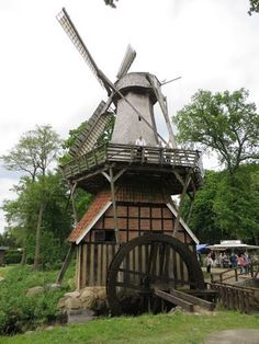 only two of these combined Windmill and water mill are in west Germany...one of these is the Hüven mill in the country of Emsland in 1802.
