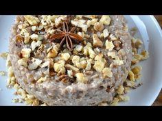 Coliva de arpacas cu nuca - simpla si foarte aromata - YouTube Mousse, Oatmeal, Pudding, Breakfast, Food, Youtube, Sweets, Fine Dining, Meal