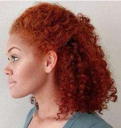 Auburn Hair Color On Black Women Locs , Color Locs Black Women Hair Color For Women, Natural Hair Styles For Black Women, Hair Color Auburn, Auburn Hair, Dye My Hair, Hair Colorful, Girl Hair Colors, Dyed Natural Hair, Big Chop