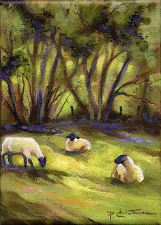 Grazing Sheep Paintings - Bing Images