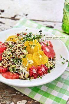 Citrus Quinoa Salad | healthy salad + dressing recipe