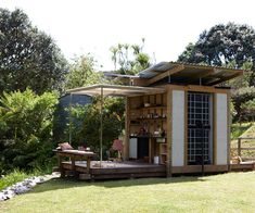 Herbst Architects distil everything you need and nothing you don't into their tiniest, and arguably most ingenious, project yet Tiny House Nation, Cabana, Micro House, Inside Home, Tiny Spaces, Prefab, Little Houses, Modern Architecture, House Plans