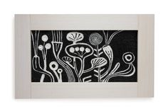 Flowers. Wool painting. Decorative panel made by wool glued on canvas. Marcella Peluffo artist