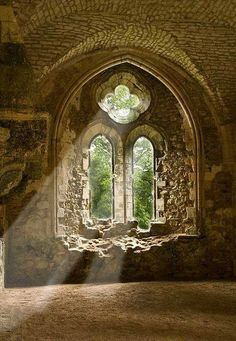 beams of sunlight through ancient windows...