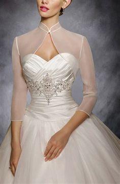 Illusion Mandarin Collar Bolero With Sleeve Groom Attire, Clothes Horse, Mandarin Collar, Bride Groom, Illusions, One Shoulder Wedding Dress, Red Carpet, Dress Winter, Couture