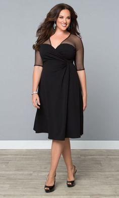 Cocktail dress that hides tummy calm