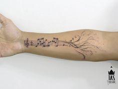Resultado de imagem para tattoo music sheet