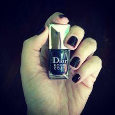 "Black ""Rock Coat"" by Christian Dior. ❤️"