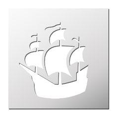 Pochoir Bateau de pirates