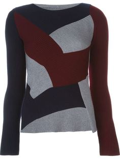 asymmetric patchwork sweater