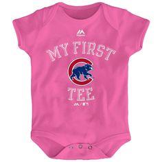 b32e08a78ed Chicago Cubs Pink  My First  Newborn Bodysuit  ChicagoCubs  Cubs  FlyTheW