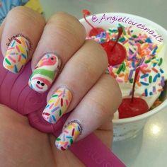 Menchie's Frozen Yogurt - Berkeley, CA, United States. Menchie on your nails!