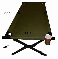 Oasis Compact Aluminum Over Size Military Cot * Read more reviews of the product by visiting the link on the image.