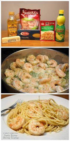 Make Garlic Butter Shrimp Scampi In 15 Minutes! food food ideas recipes healthy food food recipes