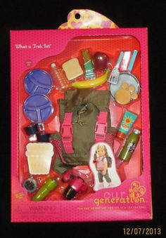 Our Generation What A Trek Set American Girl 18 Doll Backpack Food Camera | eBay